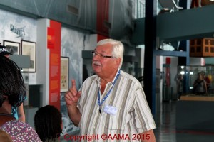 Alfred Wlodarczyk lors des Journées du Patrimoine en 2014 au Musée de l'Air