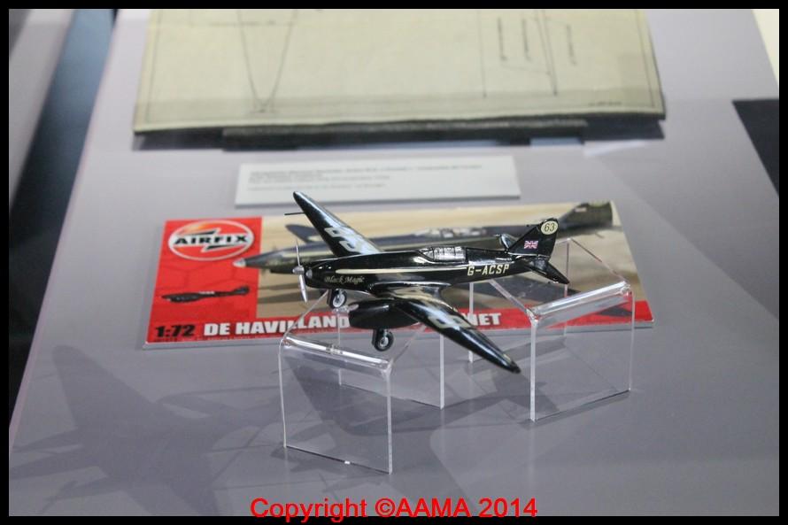 La maquette du De Havilland Comet du couple Mollison.
