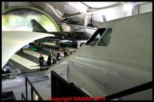 Le nez du Concorde vu de la passerelle.