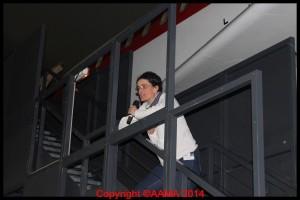 Alexandra Jolivet qui anime cette équipe, lors de la nuit des musée 2013.