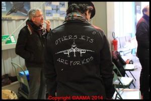 Le blouson de l'équipe Concorde qui montre avec humour ce qu'ils pensent du Concorde !