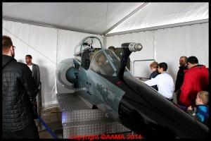 Dans le stand de l'Armée de l'Air, une cabine de Mirage F1 était accessible.
