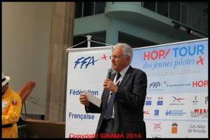 Le Président de FFA, Jean-Michel Ozoux. Le Tour est un évènement majeur de promotion pour la Fédération.