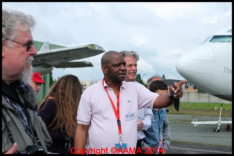 Clément, guide de l'AAMA venu de la région de Rouen pour cette occassion