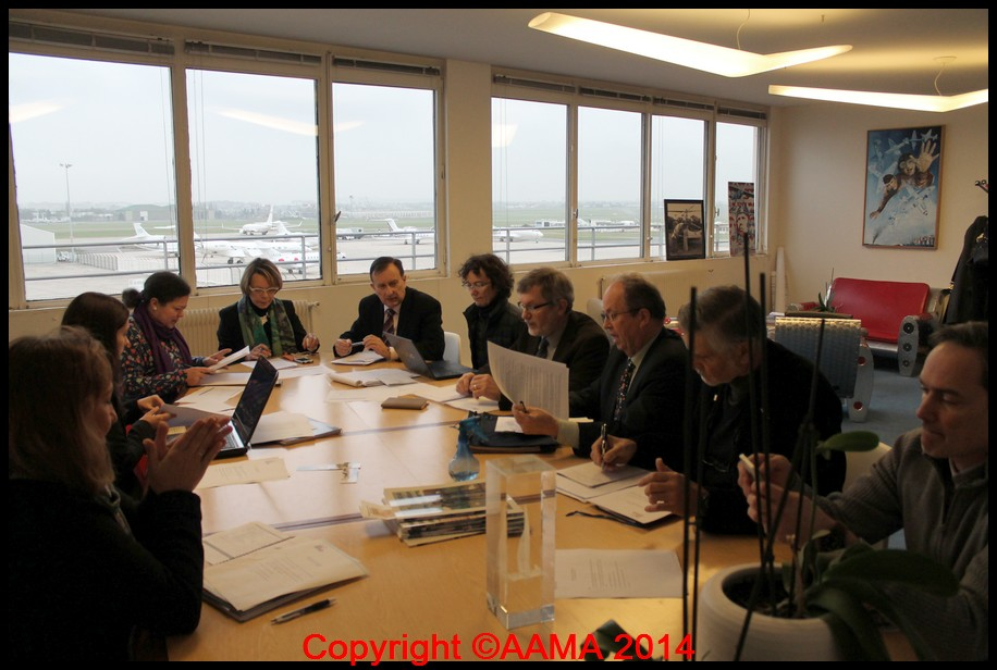 Le 2 décembre, l'AAMA au comité de direction du Musée de l'Air