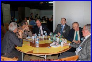 Notre Président François Chouleur en pleine discussion lors du repas