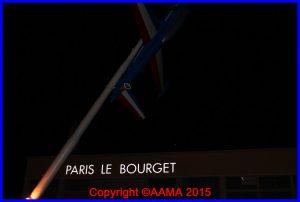 Les visiteurs pouvaient admirer à leur départ la signalétique lumineuse derrière les Fouga
