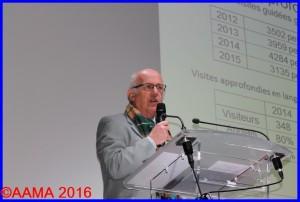 Pierre Brémard, un des deux coordinateurs des guides et bénévoles