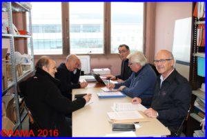 Quelques membres du comité de rédaction en 2014