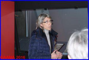 Clémence Raynaud très investie dans cette exposition