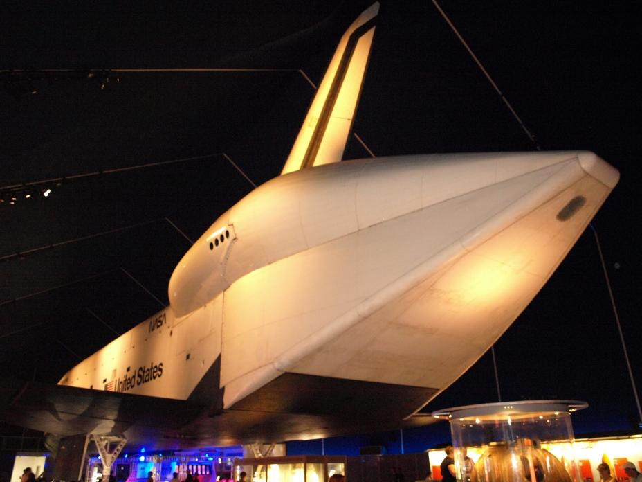 Enterprise, OV-101, Intrepid, Porte-avion, Museum, New York, Manhattan, juillet 2016, Le carénage aérodynamique