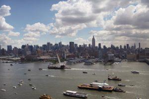 Enterprise, OV-101, barge, New York Harbor