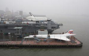 Enterprise, OV-101, Intrepid, Porte-avion, New York, Manhattan, Concorde, G-BOAD, 2012
