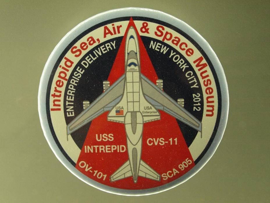 Enterprise, OV-101, Intrepid, Porte-avion, Museum, New York, Manhattan, patchs, juillet 2016