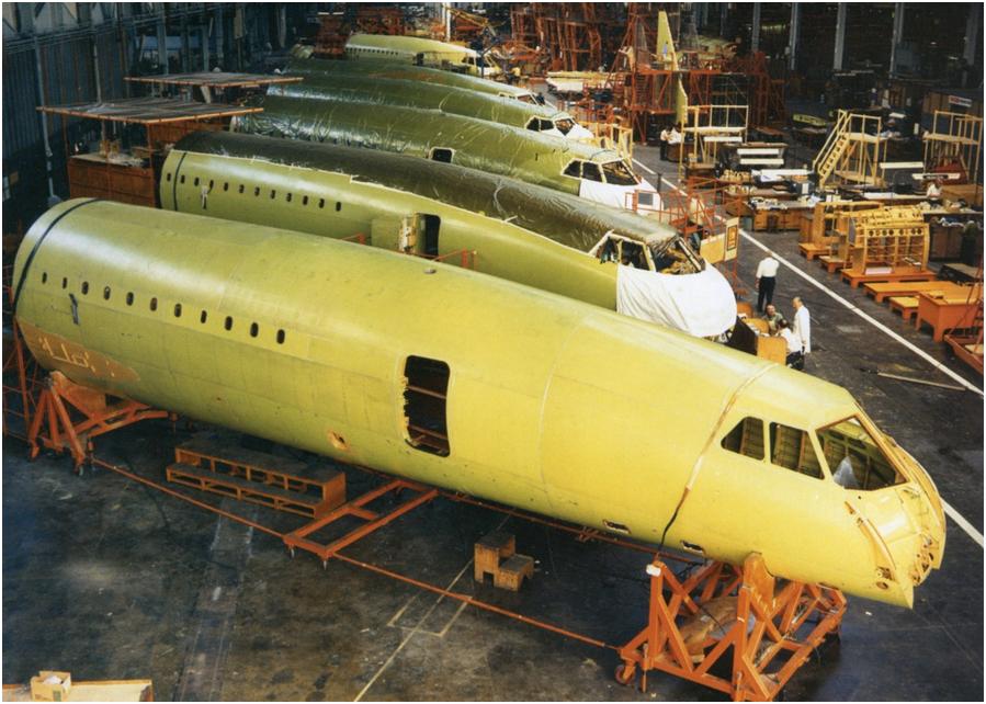 Sections avant, Concorde 201 à 206, assemblés, Grande-Bretagne